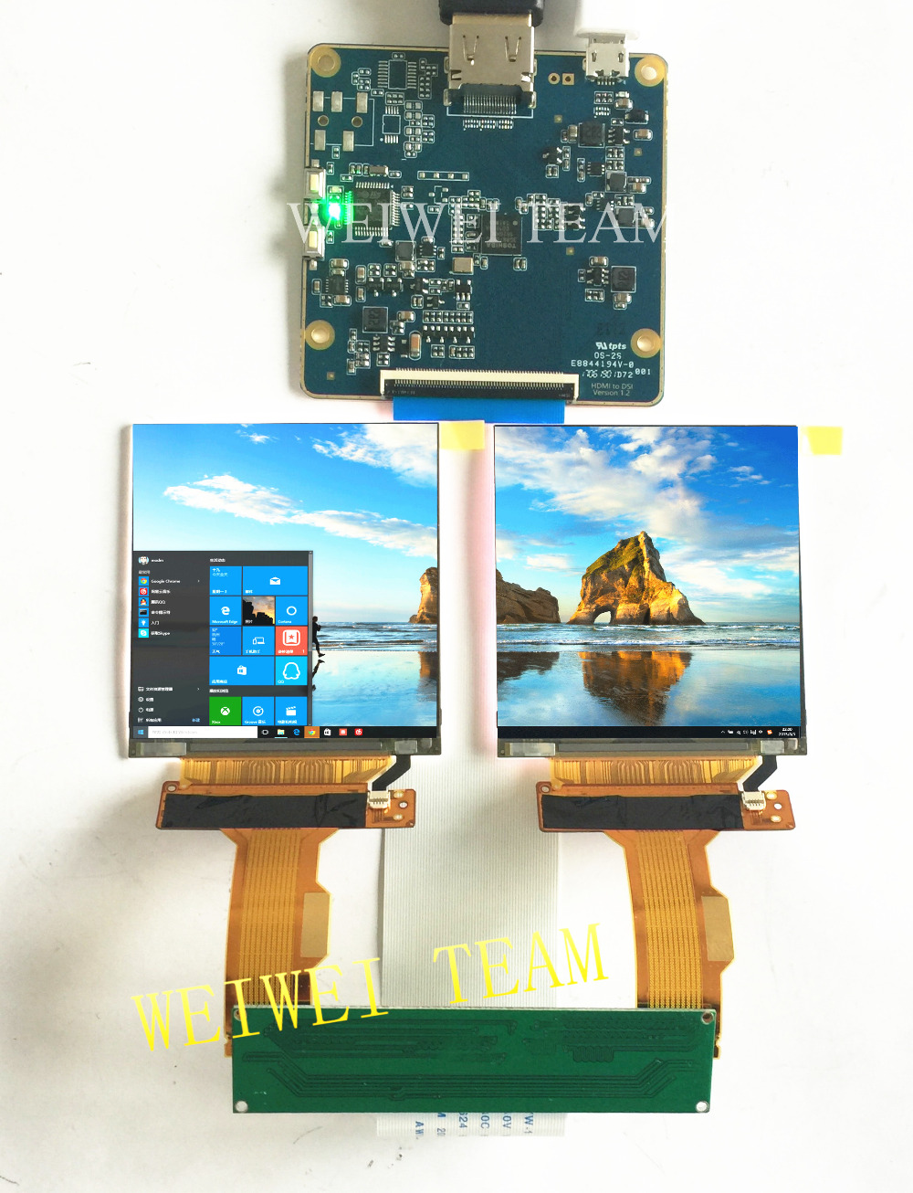 US $67 55 30% OFF 2 9 inch 1440X1440 TFT dual LCD display HDMI MIPI  controller board for 3D VR Glasses headset HMD windows mixed reality-in  Mobile