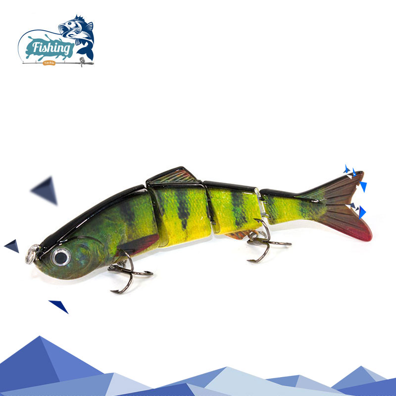 Fishing lure 12cm 17.5g Swimbait Hard Bait 4 Segments Professional Isca Artificial Lures Tackle for Ocean Boat Fishing