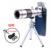 Teléfono Kit de Lentes Teleobjetivo Zoom Óptico de 18x Telescopio Microscopio ojo de Pez Gran Angular Macro lentes Con Trípode Móvil Clips