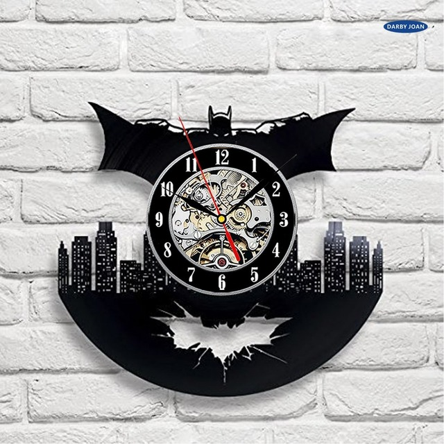 wall clock Batman Arkham City Logo Best Wall Clock – Decorate your home with Modern Large Superhero Art