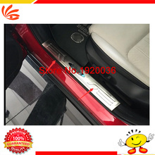 Stainless steel Interior door sill strip inner built pedal Cover threshold welcome Door plate stick For Mazda CX-4