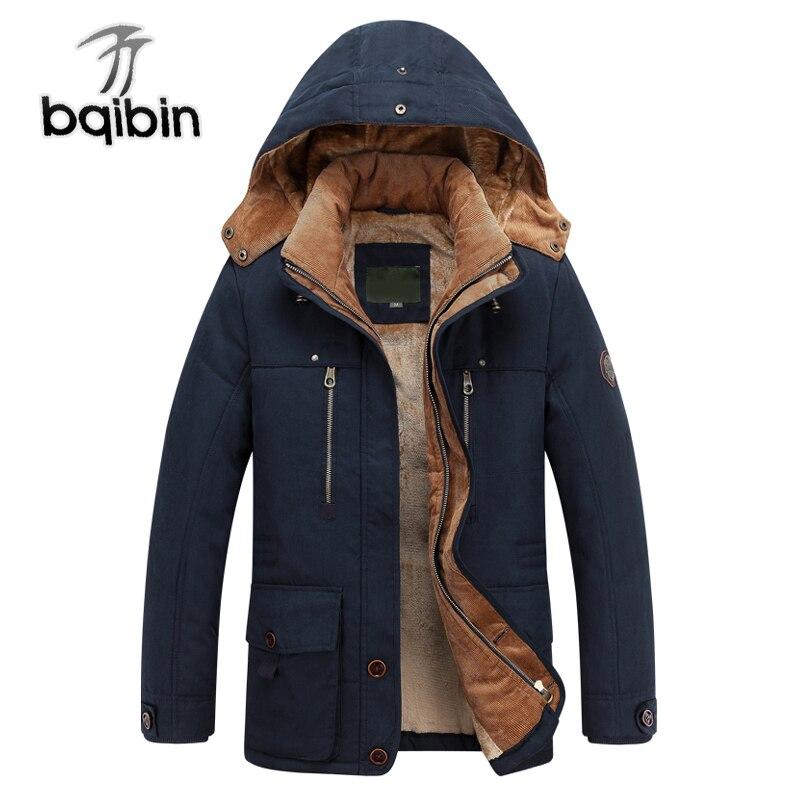 -40 Graden Warm Winter Jacket Hoge Kwaliteit Hooded Dikker Parka Mannen Katoen Uitloper Wol Liner Casual Mannen Jassen