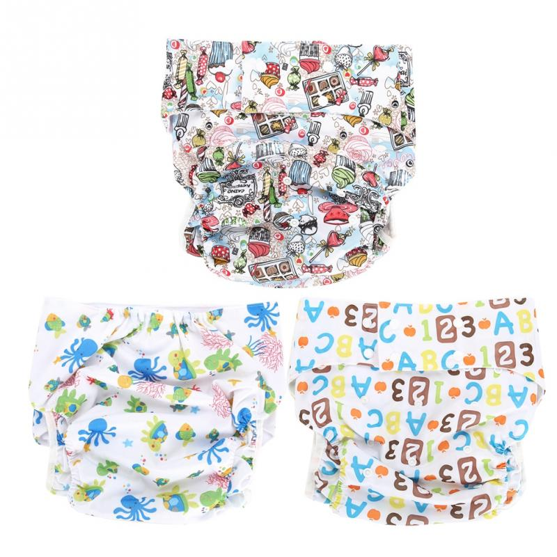 Cute Breathable Adjustable Washable Baby Diaper Reusable Cloth Nappies Pocket