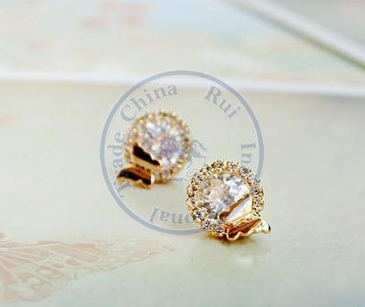 Stud Earrings ear rings Fashion for women Girls lady buttefly cystal rhinestone nice desgin CN post