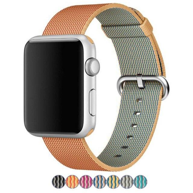 Colorful apple watch banda de tela de nylon correas de reloj correa de reloj de reemplazo pulsera para apple watch 38mm 42mm