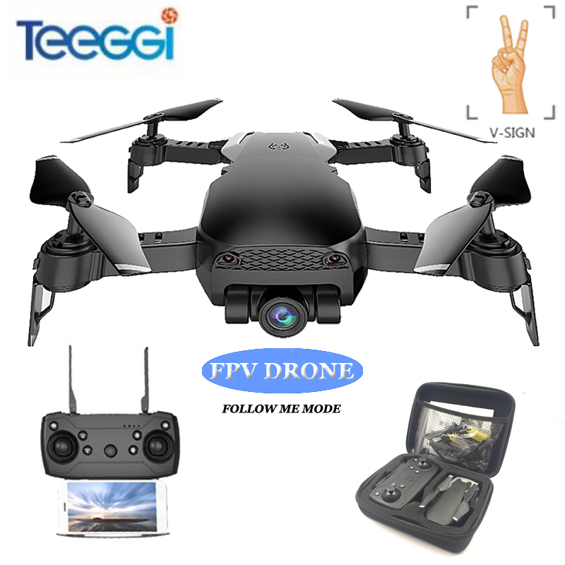 Teeggi S70W Follow Me Mode RC Drone with Adjustable FPV 1080P HD Camera GPS Professional Quadcopter Helicopter VS X8 Pro X8Pro 1