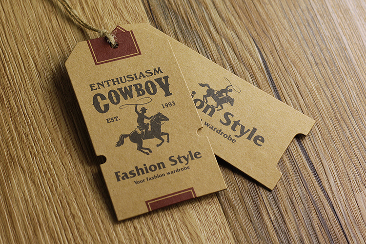 Aliexpress Com Buy Custom Logo Kraft Paper Hang Tags For