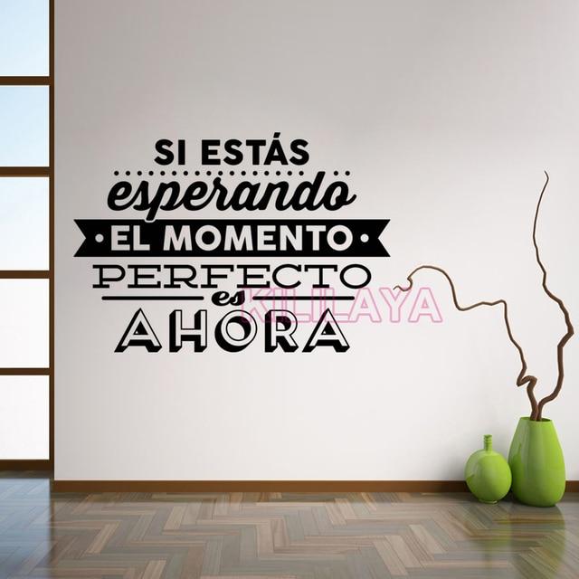 En Esta Casa Somos Reales Spanish Language Letters Wall Stickers Home Decoration Decals For Living Room Diy Vinyl Art