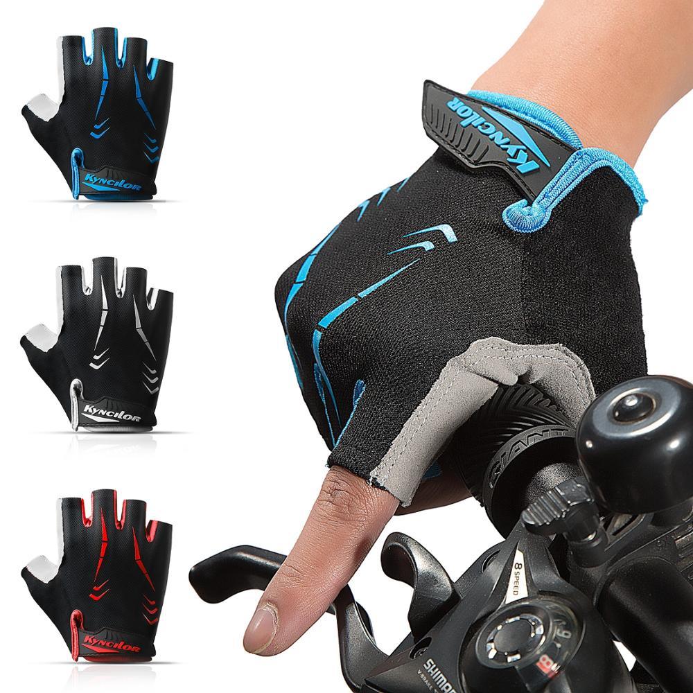 Men Women Cycling Gloves Half Finger Summer Breathable Fingerless Bicycle Gloves Shock MTB Gloves Motocross Gloves For Sports