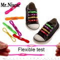 1 Bag/6 Piece Children Adult General Lazy Shoelaces No Tie Shoelaces Love Heart Design Elastic Silicone Shoe Laces