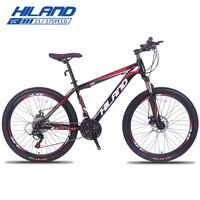 HILAND 26 горный велосипед 21/24/27 Скорость Сталь велосипед двойной диск перерыв MTB амортизационной вилкой велосипед с Shimano TZ50