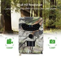 Tensdarcam Hunting Camera Night Vision Trail Cameras 1080P Video recorder 12MP Wild Photo Trap PR100