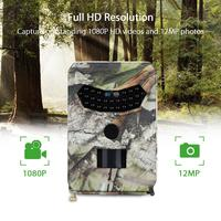 Tensdarcam Hunting Camera Night Vision Trail Cameras 1080P Video recorder 12MP Wild Photo Trap PR100