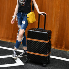 "20""24""26""29""inch Belt antique suitcase vintage rolling luggage valigia alluminio trolley alluminio castor lock trolley travel su(China)"