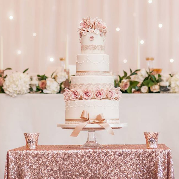 Rose Gold Sequin Table Cloth Wedding Tips And Inspiration