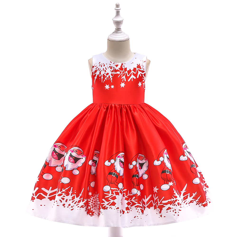 Retail Children Girl Christmas Dress New Year Girl Cartoon Winter Snowman Dresses Girl Party Costume For Kids new year baby first christmas santa dress for girls winter snowman holiday children clothing christmas party tulle kids costume