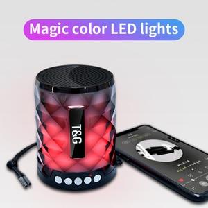 Image 5 - TG Đầy Màu Sắc Led Bluetooth Loa Di Động Ngoài Trời Bass Loa Loa Không Dây Mini Cột Hỗ Trợ thẻ TF FM Stereo Hi Fi Hộp