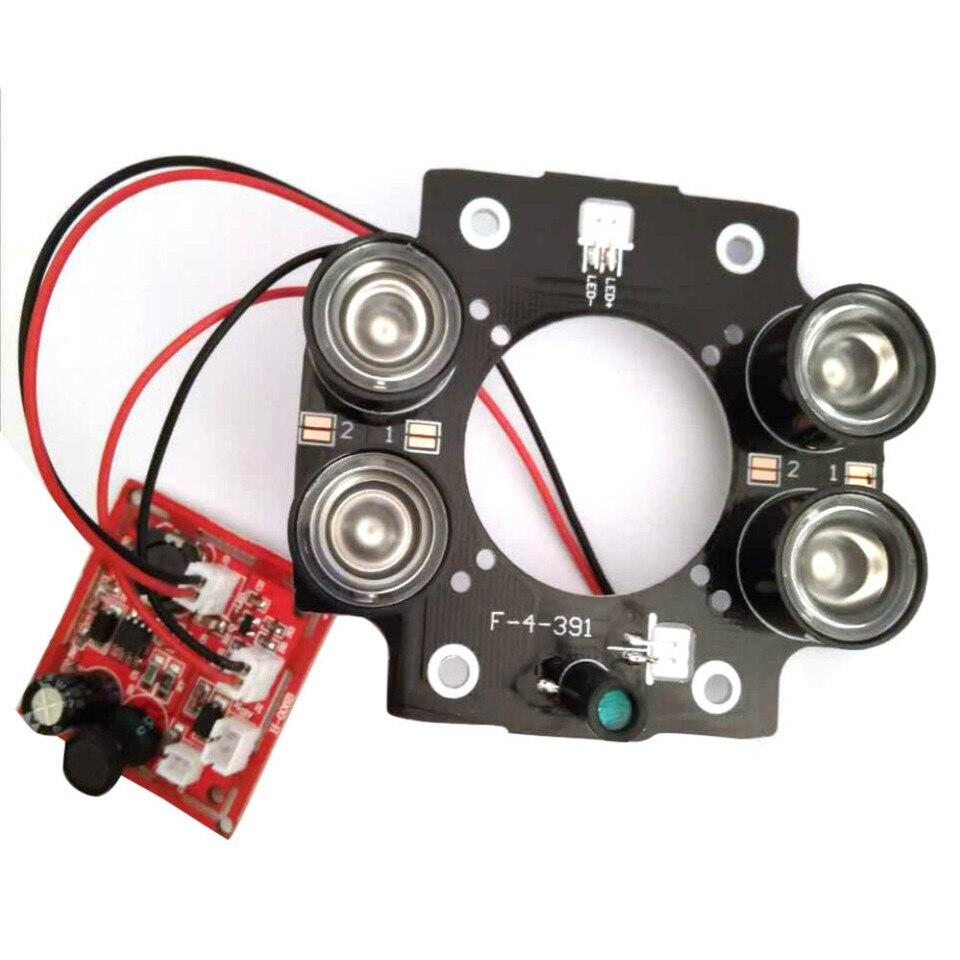 40 LED array PCB DIY 5mm IR CCTV camera video infrared light illuminator board