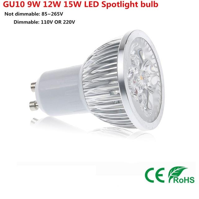 1PCS Cree GU10 bulb led 9W 12W 15W gu led lamp Led Spotlight AC85-265V Bright CE/RoHS Warm/Cool White,Free Shipping free shipping ar111 cob lamp 10w g53 gu10 ar111 led bulb led light with gu10 base led spotlight ac85 265v