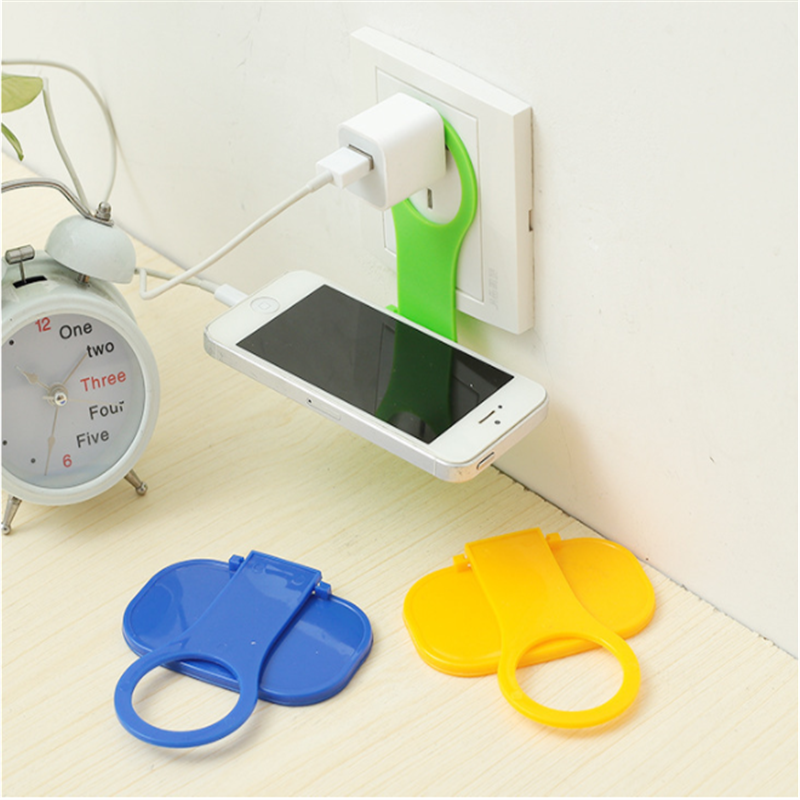 Mobile Phone Wall Plug Socket For Charger Charging Rack Hang Holder Foldable Fashion Colorful For Cell Phone Charger