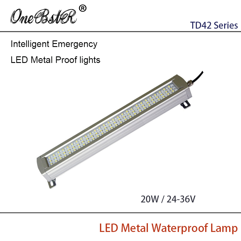 HNTD 20W DC 24V/36V Intelligent Emergency LED Metal Proof lights Waterproof IP67 Built-in Lithium Battery Free shipping