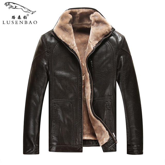Внешняя торговля овчины зимняя шерсть мужская кожаная куртка плюс толстый бархат Одежды Casual стекаются Кожаная Куртка мужская Одежда