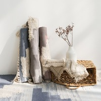 Kilim 100% cotton Living room Carpet geometric Indian Rug stripe Modern Mat contemporary design Bohemia Nordic style