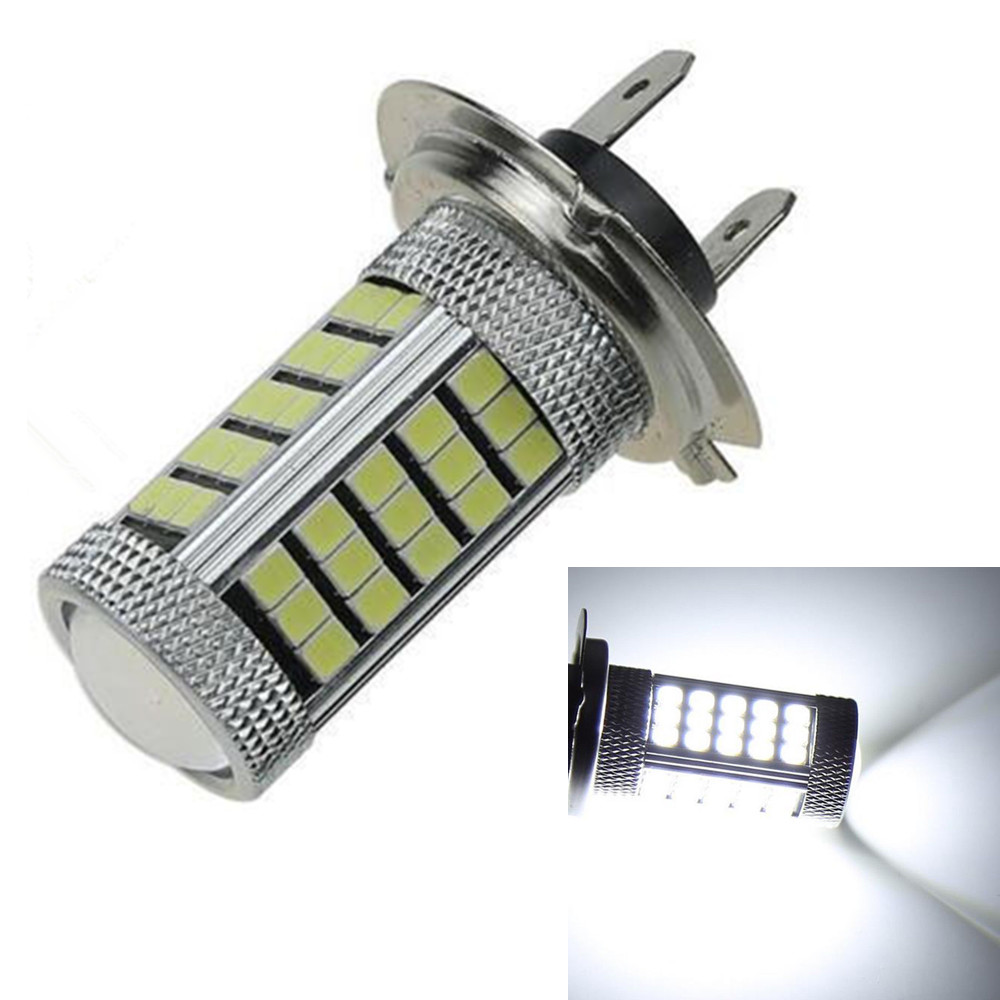 CYAN SOIL BAY  12V H7 2835 63 SMD LED 6000K PX26D Car Projector Fog Driving Light Bulb White Car Light Source Bright Than 33 SMD car vehicle 9006 hb4 2835 63 66 smd 1200lm white bulb fog light for drl 6000k 12v 24v bright than 33 smd