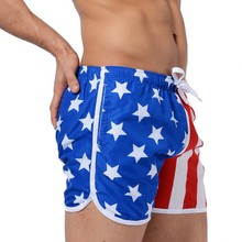 AUSTINBEM Brand new men's surfing board shorts beach shorts Flag of the United States surf Swimming shorts man Sports pants 304(China)