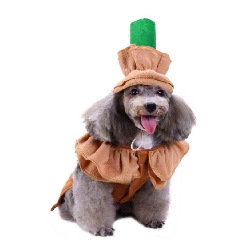 Funny Halloween Pet Costume Cat Dog Cloth Costume Funny Pet Clothes Cute Magic Uniform Hat Party Fancy Dress Pet Clothes Cosplay