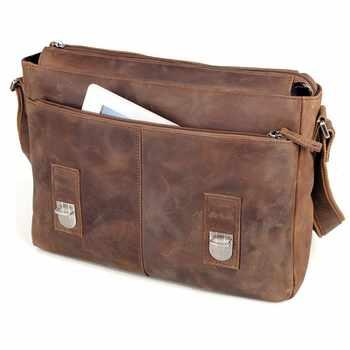 Neweekend Shoulder Men\'S Bag Vintage Crazy Horse Crossbody Male\'S Messenger Genuine Leather Men Leisure Cowhide Bags For 2120