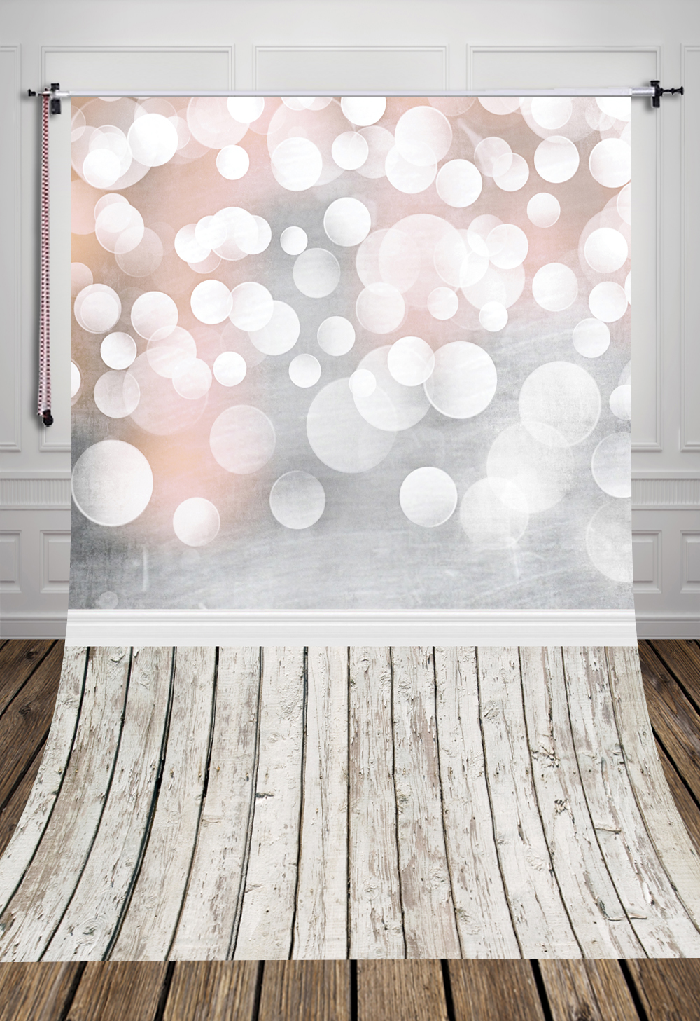 5x7ft (1.5x2.2m) hot sale white polka dots print photography backdrop Art fabric newborn pet indoor photography background D-036