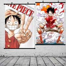 Luffy Poster Wall Picture Prints Painting One Piece Scroll Ace Canvas Paintings Home Decor
