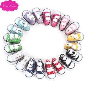 BJD dolls shoes 1/6 Girl doll 10 colors 35 cm doll canvas shoes Boy mini 3.8 cm sports shoes baby toys accessories b3
