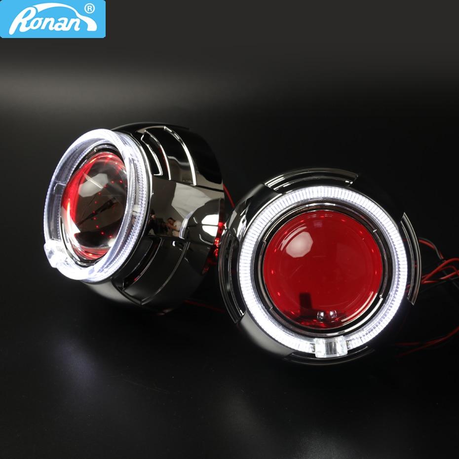 Металл 3,0 ''H1 Pro Bi xenon HID объектив проектора LHD RHD костюм для H4 H7 фар + 95 мм светодио дный оптическое Ангельские глазки стайлинга автомобилей обно...
