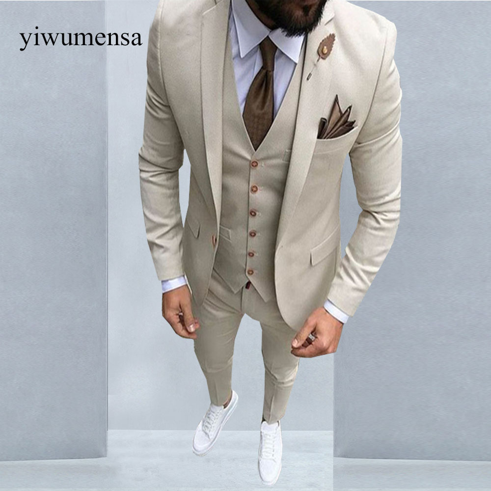 2018 Brand Style Suits Men Black White Floral Pattern Men Suit Slim ...