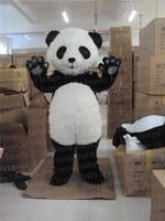 Hairy Panda Bear Mascot Costume China Panda Bear Costume Cartoon Panda Head Costumes Free Shipping
