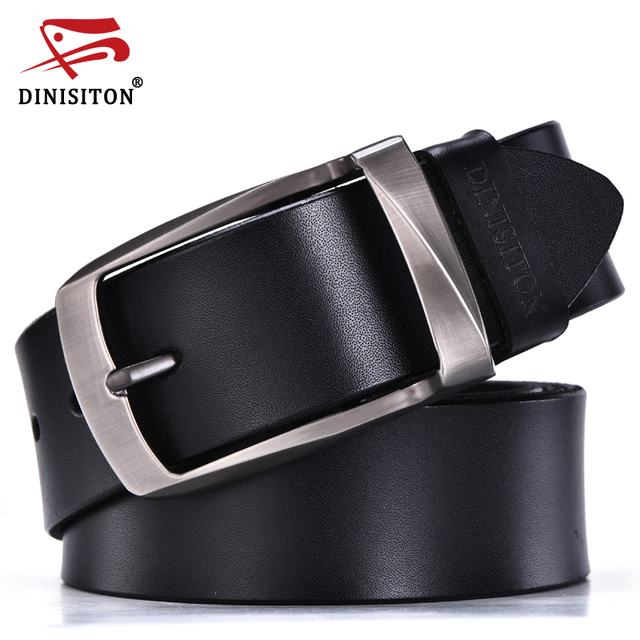 DINISITON alloy pin buckle belts cowhide belt man genuine leather high quality vintage jeans belt cinturones hombre Freeshipping