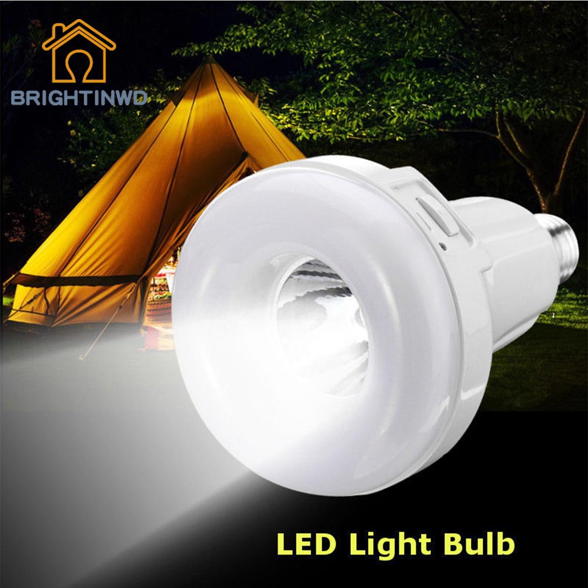 BRIGHTINWD LED E27 Energy Saving Rechargeable Intelligent Light Bulb Lamp Emergency Lights
