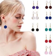 Belleper 1Pair Fashion Resin Stone Round Drop Earrings For Women Beautiful Multicolor Dangle Earring Boho Elegant Shiny Jewelry