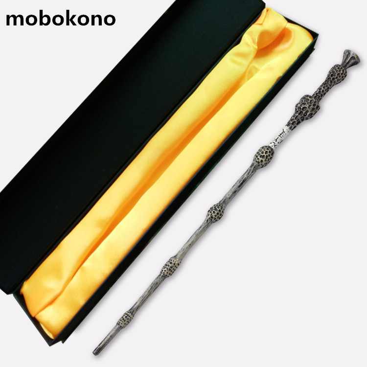 mobokono Magic Wand Harry Potter Wand 37cm Dumbledore scripture Edition Non-luminous wand with box high quality best price harry potter magic wand kids cosplay stage magic tricks sticks children toys harry potter magical wand