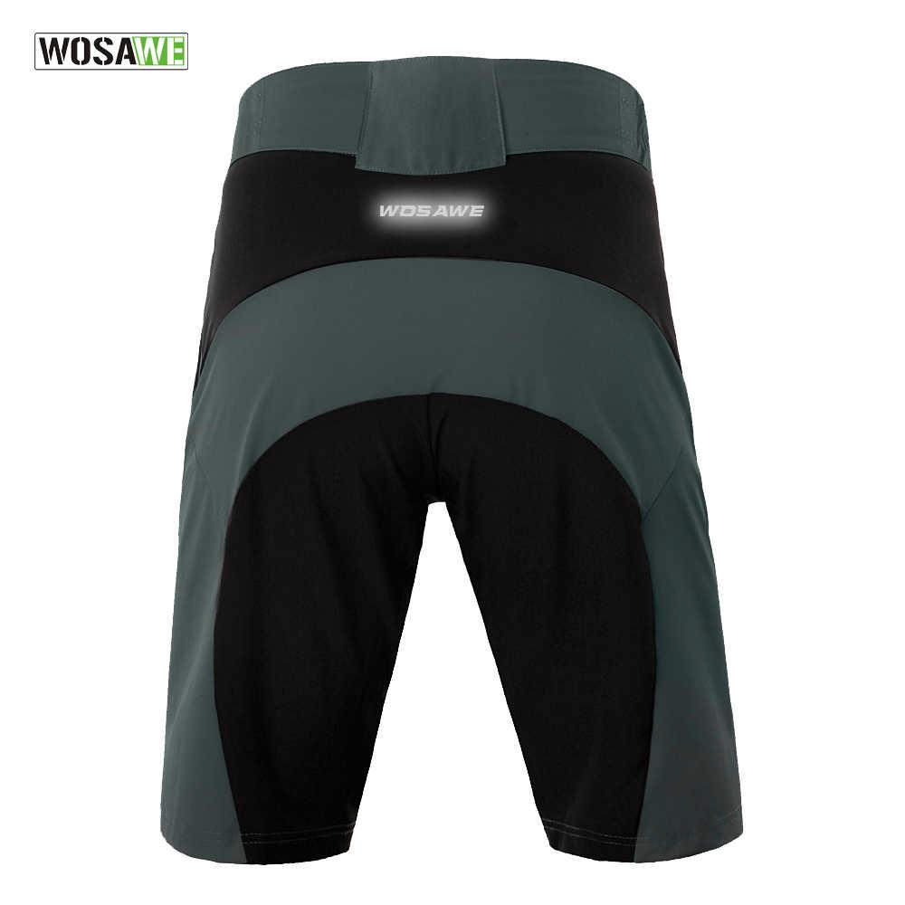 WOSAWE pantalones cortos de Ciclismo de secado rápido MTB para hombre pantalones cortos de bicicleta de montaña