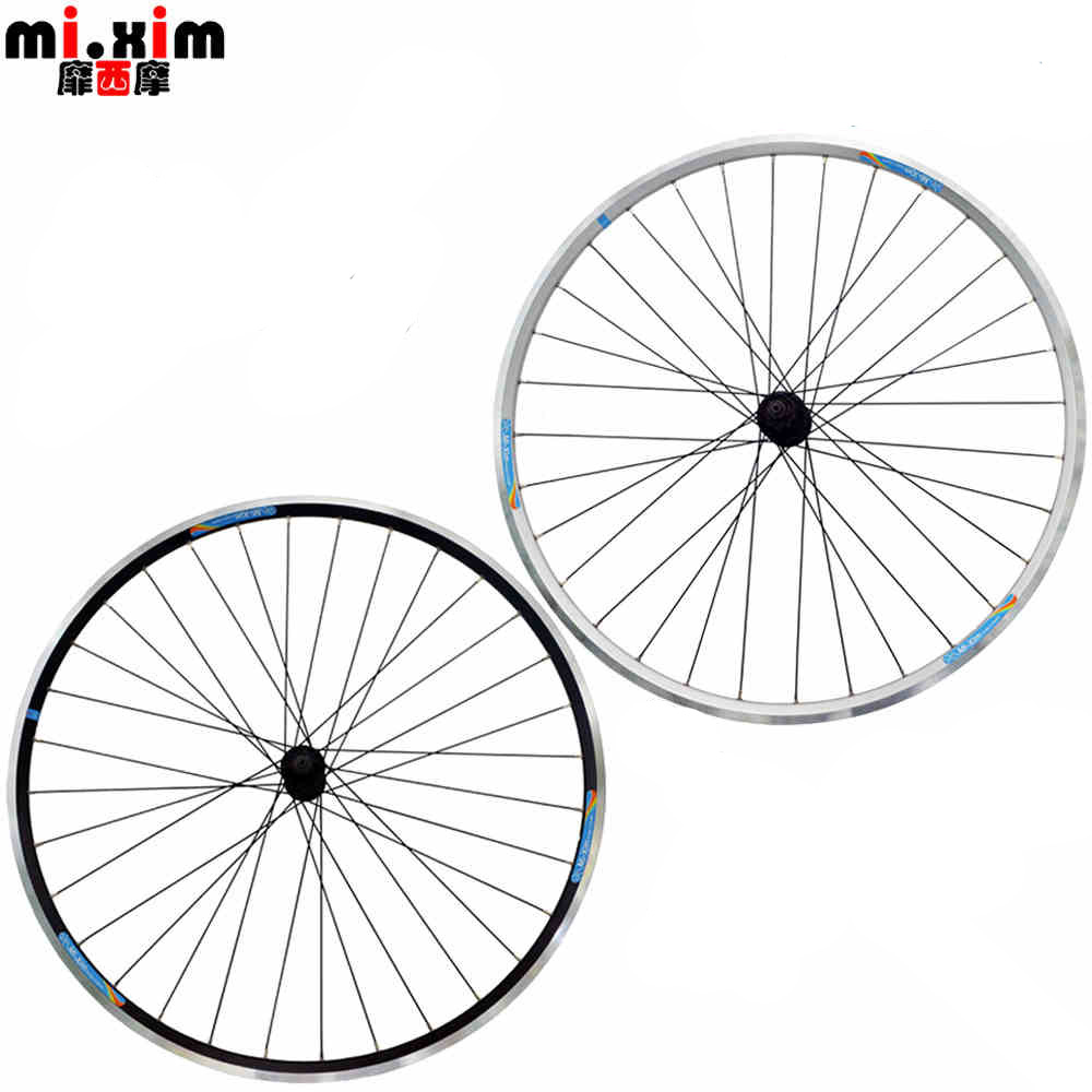 mi xim 700c road bike wheels front and rear aluminum v brake 32 holes rim racing wheel bike