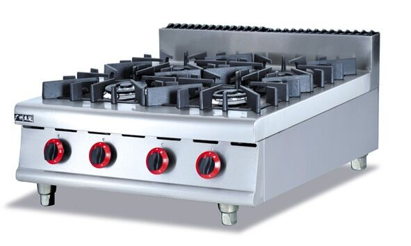 Gas stove Stainless steel gas range 4 Burners Counter Top