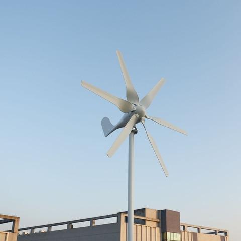 12v 24v turbina eolica com 6 laminas