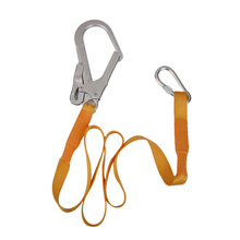 22KN Rock Climbing Safety Harness Belt Lanyard With Carabiner Buckle for Outdoor Mountaineering