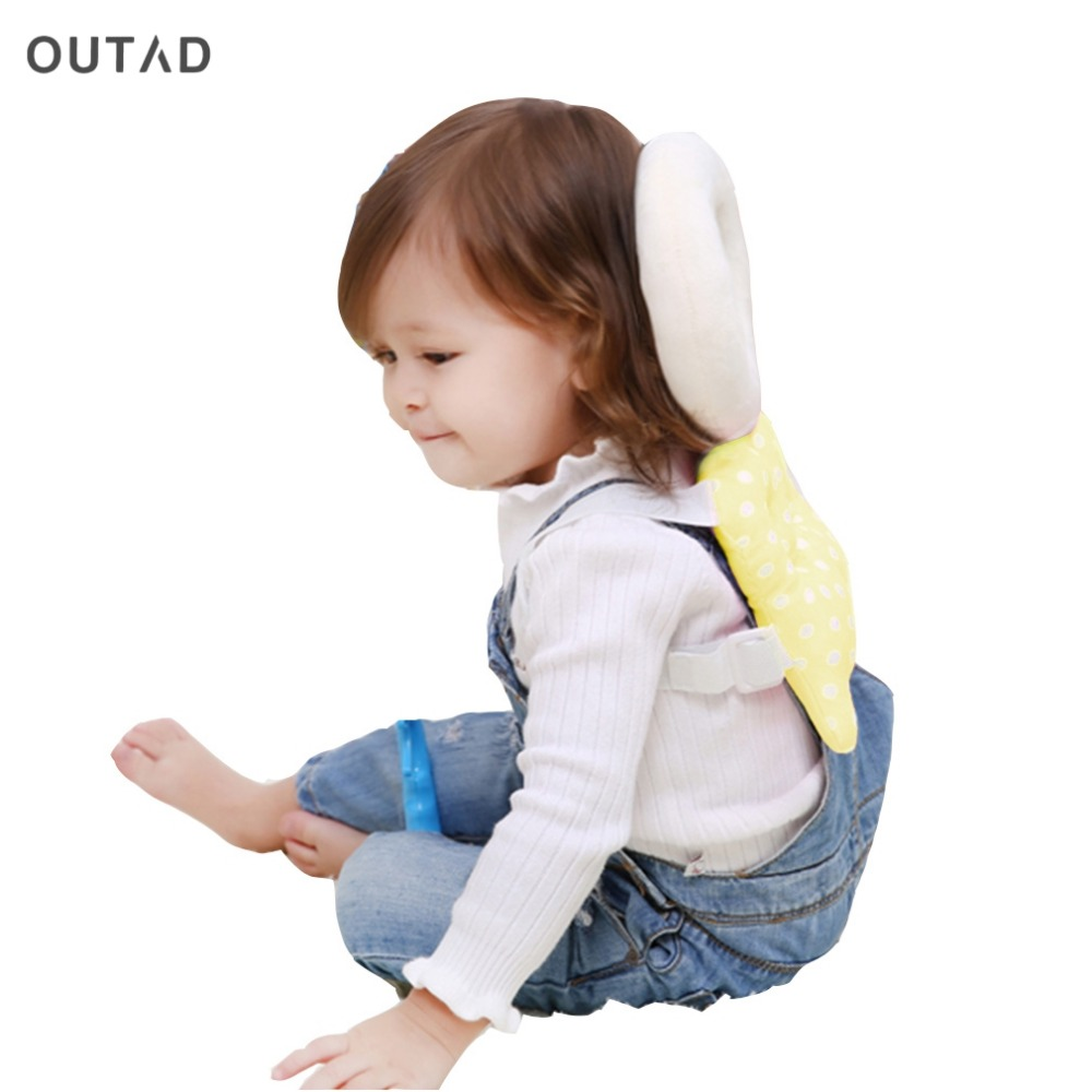 OUTAD 1pc Top Selling Baby Head protection pad Toddler headrest pillow baby neck Cute wings nursing drop resistance baby protect