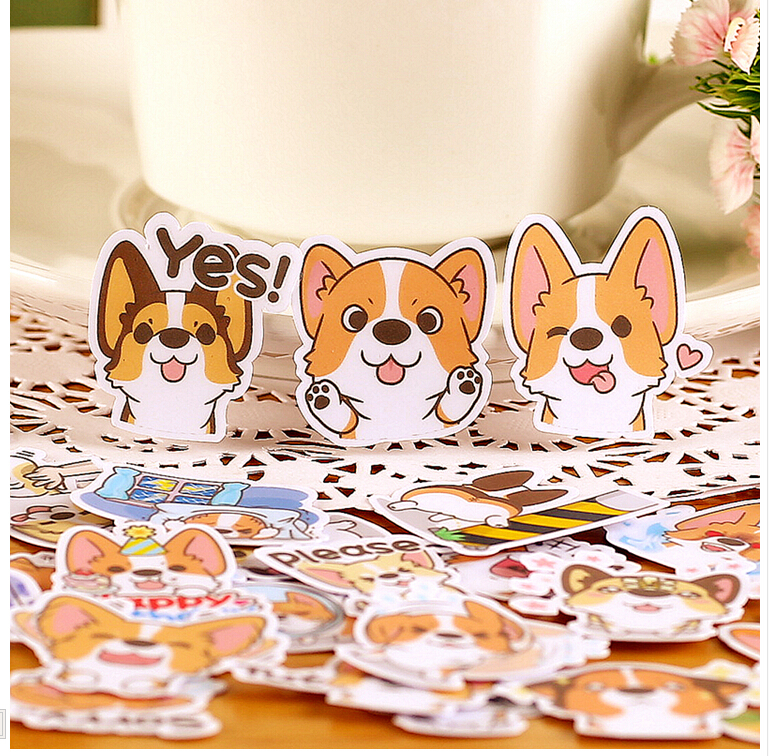 39pcs Creative Cute  Self-made Coco Dog 3/ Cute Dog Scrapbooking Stickers /Decorative Sticker /DIY Craft Photo Albums