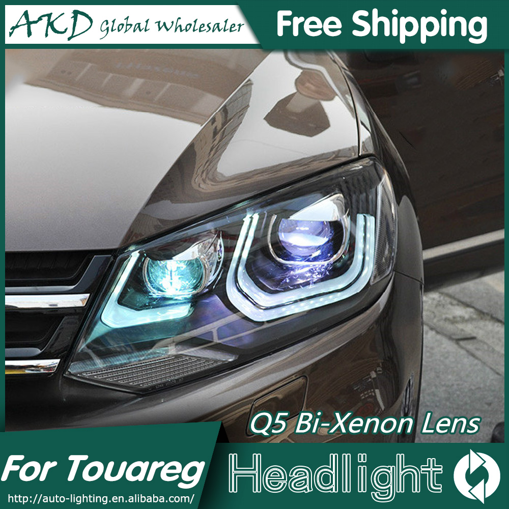 AKD Car Styling for VW Touareg Headlights Volks Wagen Touareg LED Headlight DRL Bi Xenon Lens High Low Beam Parking Fog Lamp akd car styling for nissan teana led headlights 2008 2012 altima led headlight led drl bi xenon lens high low beam parking