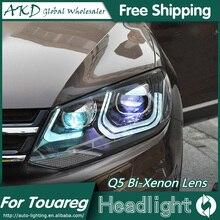 AKD Car Styling for VW Touareg Headlights Volks Wagen Touareg LED Headlight DRL Bi Xenon Lens High Low Beam Parking Fog Lamp